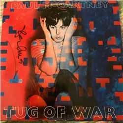 Signed Paul McCartney Tug Of War Album Cover