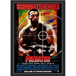 Signed Predator Movie Poster