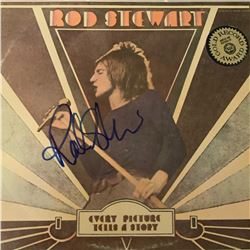 Signed Rod Stewart Every Picture Tells A Story Album Cover