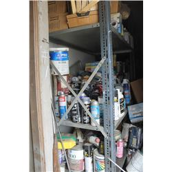 QUANTITY OF PAINT, FUEL CONDITIONER, & MISC. IN FRONT ROOM