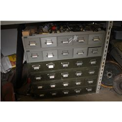 10 & 30 DRAWER CABINET C/W ALL FITTINGS IN & ON TOP