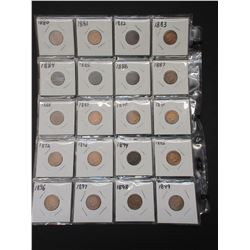 29 Indian Head Pennies 1880-1908