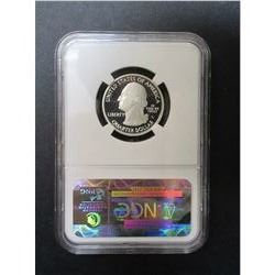2010-S Silver Mount Hood Quarter- Graded PF70 Ultra Cameo by NCG