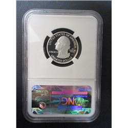 2010-S Silver Yellowstone Quarter- Graded PF70 Ultra Cameo by NCG