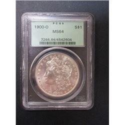 1900-O Morgan Silver Dollar- Graded MS 64 By PCGS