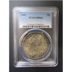 1883 Morgan Silver Dollar- Graded MS64 by PCGS