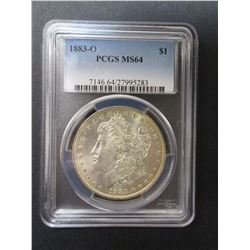 1883-O Morgan Silver Dollar- Graded MS 64 By PCGS