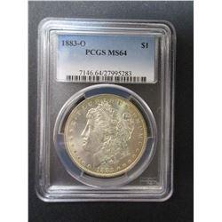 1883-O Morgan Silver Dollar- Graded MS 64 By PCGS