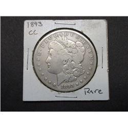 1893 Carson City Morgan Silver Dollar- Rare Date