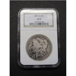 1882 Carson City Morgan Silver Dollar- Graded VG8 by NCG