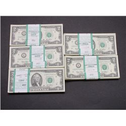 500 2 Dollar Bill- Sequential Order- I25717001A- I25717500A
