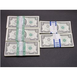 400 2 Dollar Bills- Most Are Sequential