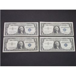 4  Silver Certificates- 1957A- 3 1957s- Very Good