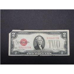 1928G Red Seal 2 Dollar Bill