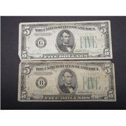 2 5 Dollar Federal Reserve Notes