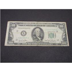 1950 100 Dollar Bill