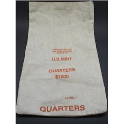"""US Mint Quarters Bag- 20"""" X 12"""""""