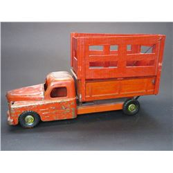 "Metal Structo Toys Stock Truck- Dump Bed- Removable Stock Racks- 20""L X 7.5""W X 11""H"