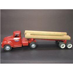"Tonka Log Hauling Truck With Log Trailer- 24""L X 6""W 6""W"