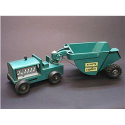 """Structo Construction Company Tractor With Dump Trailer- Total 20""""L X 6.5""""W X 5""""H"""