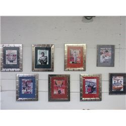 8 Framed Beckett Die- Cast Authority Racing Posters- Signed
