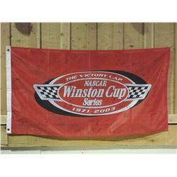 "Signed Nascar Winston Cup Series Banner- 73 Signatures- 61"" X 32""- Letter of Authenticity"