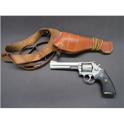 "Smith and Wesson Model 686-1 Stainless Revolver- .357 Mag- 6"" Barrel- Pachmayr Grips"
