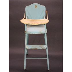 "Tin Baby High Chair With Tray- 29"" X 9.5"""