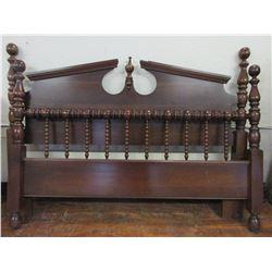 Mahogany Bed With Rails- 62 W