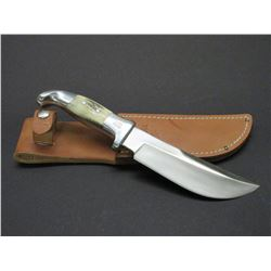 "Marked Ruana Bonner Montana 17B Knife- Signed VN Hangas- Original Sheath- 6"" Blade- 4.5"" Handle- Unu"
