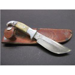 "Marked RH Ruana Bonner Montana Knife- Original Sheath- 4"" Blade- 3.5"" Handle"