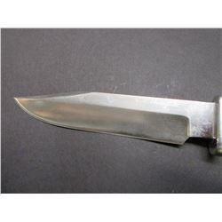 "Marked Ruana Bonner Montana Knife- Signed VN Hangas- Original Sheath- 6"" Blade- 4.5"" Handle"