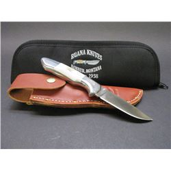Marked Ruana Knife- Reliable 32- Original Sheath- Soft Case- 3.5  Blade- 4.5  Handle- Letter of Auth