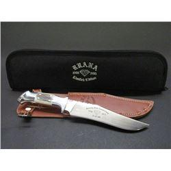 Marked Ruana Bonner Montana Knife- Seventy Fifth Anniversary- 1938- 2013- 32/100- Original Sheath