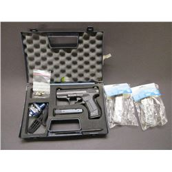 """Walther P99 Semi Automatic Pistol- 9mm- 2.75"""" Barrel- Night Sights- 4Mags- Hard Case- #039022"""
