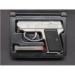 "AMT Back Up Semi Automatic Pistol- .380 9mm Kurz- 2.75"" Barrel- 2 Mags- Hard Case- #DA32867"