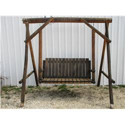 Log Swing with Frame- 7' W
