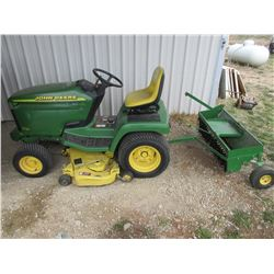 "John Deere 325 Riding Lawn Mower- Thatcher- 48"" Cut- Runs Like a Top"