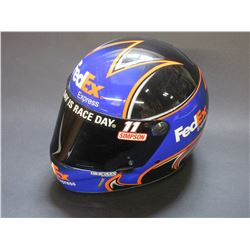 Simpson Real Replica Racing Helmet- Signed by Denny Hamlin- Box