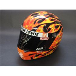 Simpson Real Replica Racing Helmet- Signed by Tony Stewart- Letter of Authenticity- Box