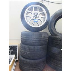 2 Front Goodyear Eagle 255/45ZR18 Tires- 2 Rear P285/ 40ZR 18 Tires- SVT 5 Hole Rims- New Takeoffs