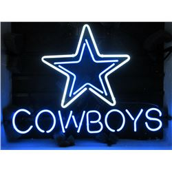 """Working Neon Cowboys Sign- 18.5"""" X 14"""""""