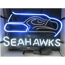 "Non- Working Seahawks Neon Sign- 18.5"" X 14"""