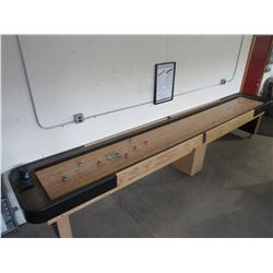 "16' X 30"" Shuffle Board Table- 8 Weights- Extra Sand- Brush- Framed Rules"
