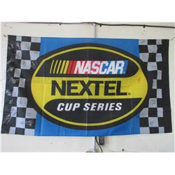 """Signed Nascar Nextel Cup Series Banner- 24 Signatures- 61"""" X 35"""""""