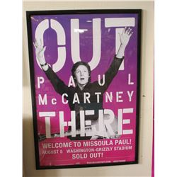 "Paul McCartney Framed Poster- 37"" X 25""- Paul McCartney Framed Limo Photo- 39"" X 15""- Missoulian Pho"