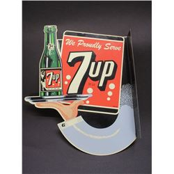 "Metal 7UP Signs- 17""H X 15""W- 2.5"" Flange"