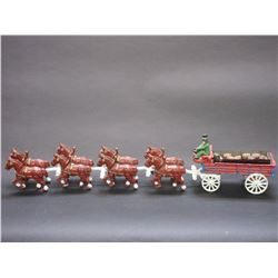 "Cast 8 Up Beer Wagon- 30""L X 4""W X 4.5""H"