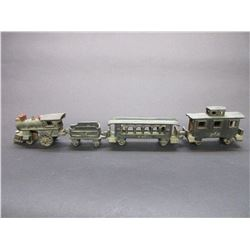 "Cast 4 Piece Train- 21""L X 1.5""W X 3.5""H"