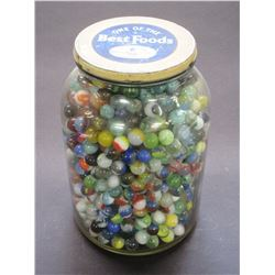 Gallon Jar of Old Marbles